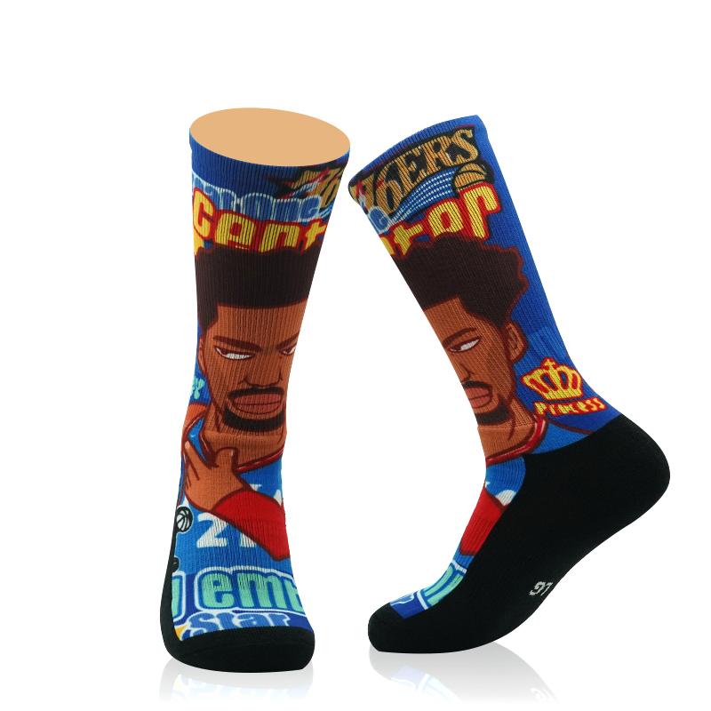 FULL PRINT STREETWEAR SOCKS – CUSTOM-Basketball star socks Featured Image