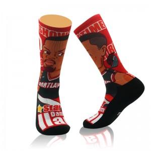 Custom Logo Professional Super Star Kobe Basketball Socks Elite Thick Sports Socks Non-Slip Skateboard Towel Bottom Sock