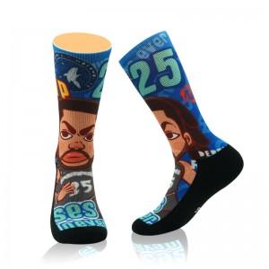 Custom fashion branded dropship socks in bulk men top quality wholesale basketball team elite socks for adults