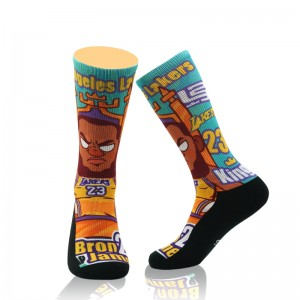 Custom Professional Super Star Number Basketball Thick Sport Socks