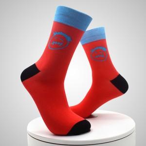 Calcetines de hombre personalizados de sublimación transpirable con estampado de poliéster de uso cómodo calcetines impresos digitales