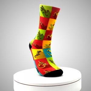 Cheap Dye Sublimated Men Custom Print Ankle Socks