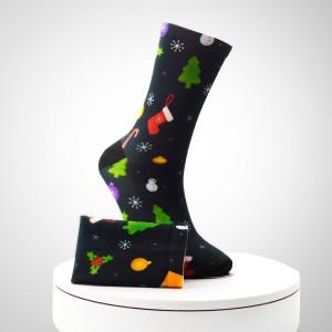 Çorape printimi me foto të këmbëve të shtypura për burra me shumicë të shtypura në lartësim 3D