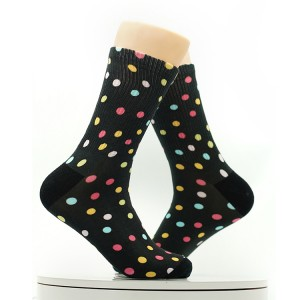 Colorful Wave Point Combed Cotton Men Fashion Cute Socks
