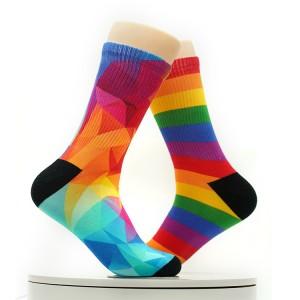 New tide socks men's and women's socks of the same national style series of casual designed socks wholesale