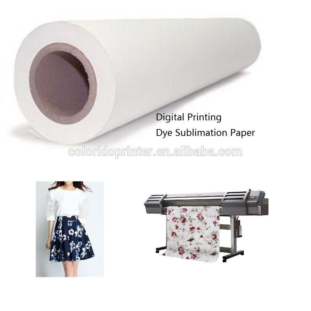 High Performance  100g quick dyring digital polyster printing Roll Sublimation Paper to London Factory
