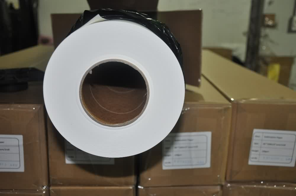 Discount wholesale 100gsm 1370mm(54inch) 100m/roll sticky sublimation transfer paper Wholesale to Philippines