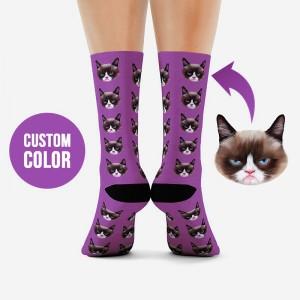 Low MOQ 3D print personal design 360 digital animal photo print custom sublimation socks