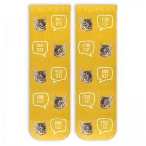 Hot Sale Comfortable Fashion Low MOQ Pattern Logo Design Custom Socks
