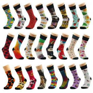 premium made unisex crew design customized print your own logo sublimation sock man custom sublimate sock