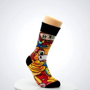 Wholesale new popular cartoon cute cotton crew socks men
