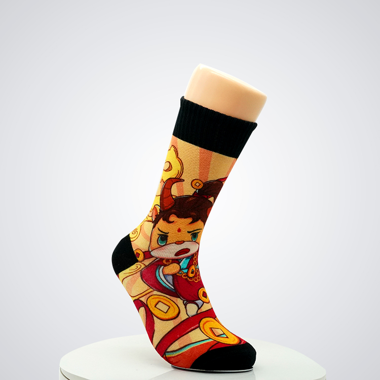 Wholesale Breathable Soft Colored Crew Fashion Bamboo Cotton Custom Dress Socks Featured Image