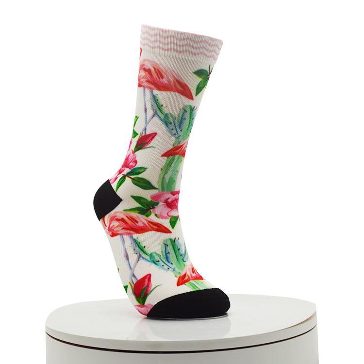 flamingo Digital Printed Socks Featured Image