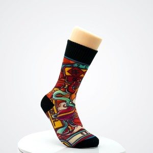 custom crew fashion happy custom socks plain socks custom logo brand cks
