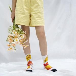 2021 hot selling cheap custom socks logo sublimation blank white socks for DIY Personalized