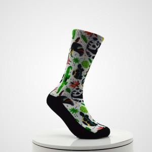Organic Sport Basketball Custom Design Printed Socks With Logo