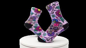 Warm Long Women 3D Print Crew Socks, Crew Socks Print