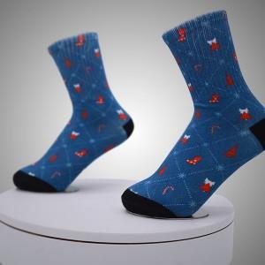Digitalne tiskane čarape s uzorkom kompasa