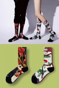 Rainbow Colorful Womens Ankle Sport Socks, Compression Socks For Men & Women