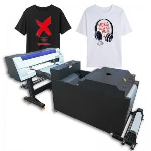 2021 hot sale digital DTF Printer PET film heat transfer printer Tshirt printing machine with shaking powder machine