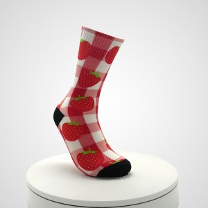 Warm Long Women 3D Print Crew Socks, Crew Socks Print