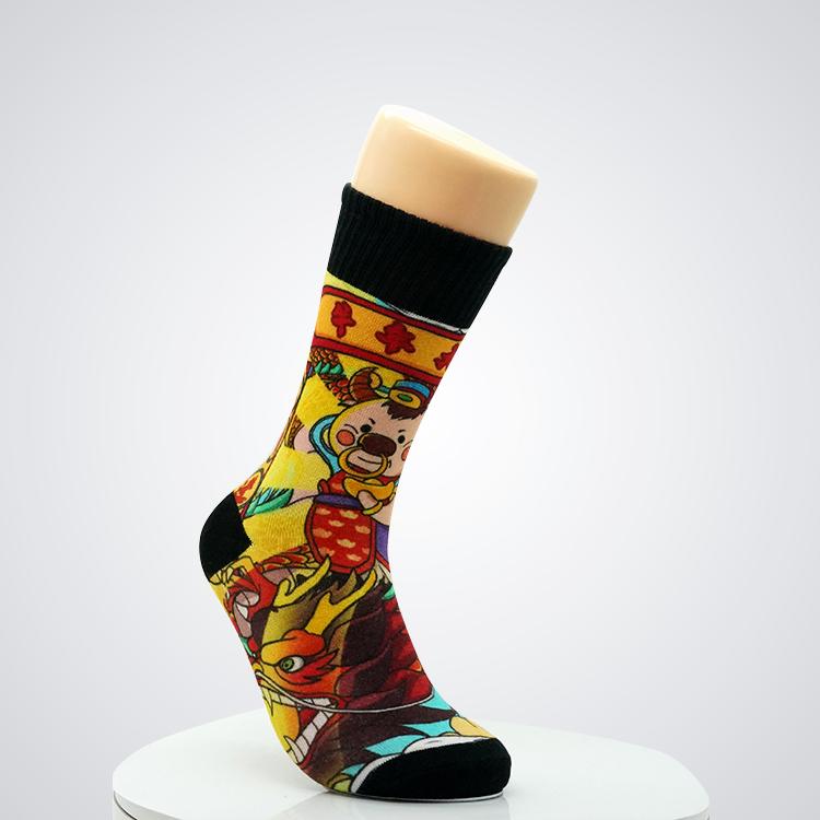 Wholesale Men Crew Socks Custom Dress Weed design 100%cotton men's ankle soccer socks Featured Image