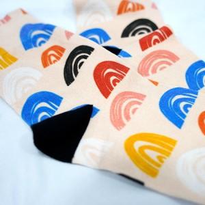 New design Custom Printing Crew Cotton Christmas Socks