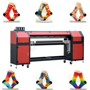 Wholesale Automatic Rotary Socks Printer Logo 3D Printing Sock Machine