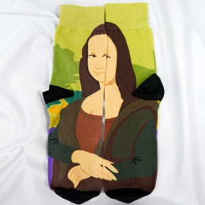 Durable fashion socks for men art painting socks