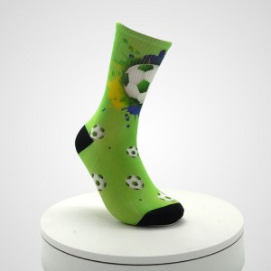 Anti Slip Football Sports Korea Solid Color Girls Women Sock