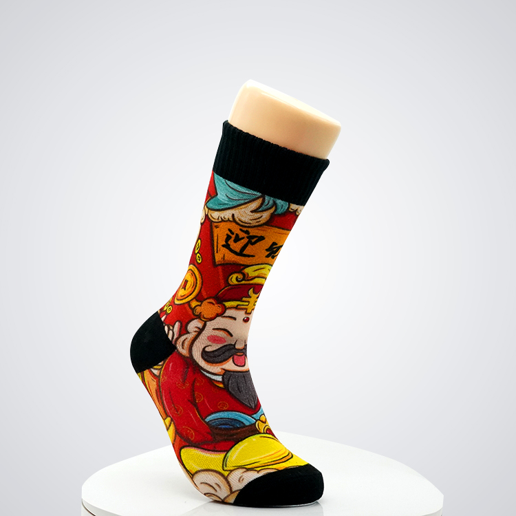 Full color sublimation socks sock dye sublimation printing comfortable socks Featured Image
