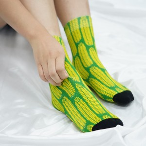 2021 Mens Funky Bakery Novelty Colorful Happy Dress Socks Assorted Designs