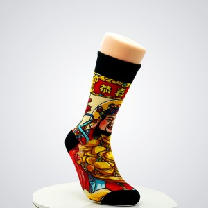 Wholesale Good Quality Cheap Cute Cartoon 5 Pairs Gift Box Pack Breathable Cotton Crew Women Socks