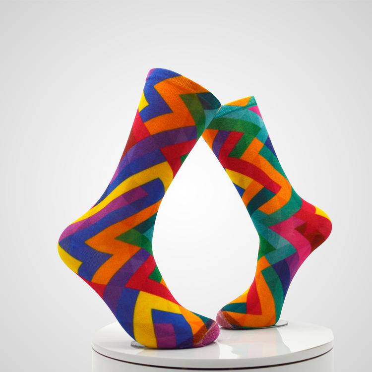 Custom sublimation printing socks custom digital 3d printed socks Featured Image