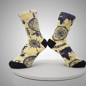 Compass Pattern Digital Printed Socks