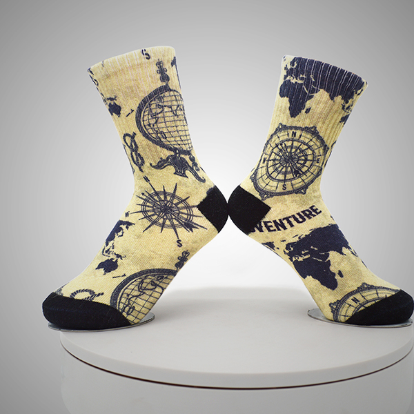 Compass Pattern Digital Printed Socks Featured Image