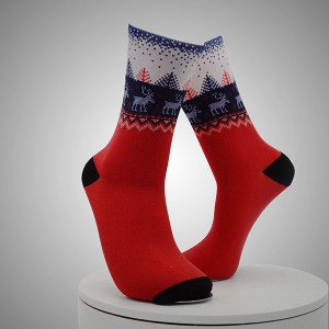 Moose Pattern Digital Printed Socks