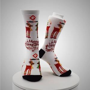 RRY Letters Pattern Digital Printed Socks