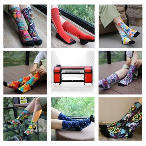 New Product Auto socks rotary printer,Direct To Fabric Digital OEM 3D Socks Printer