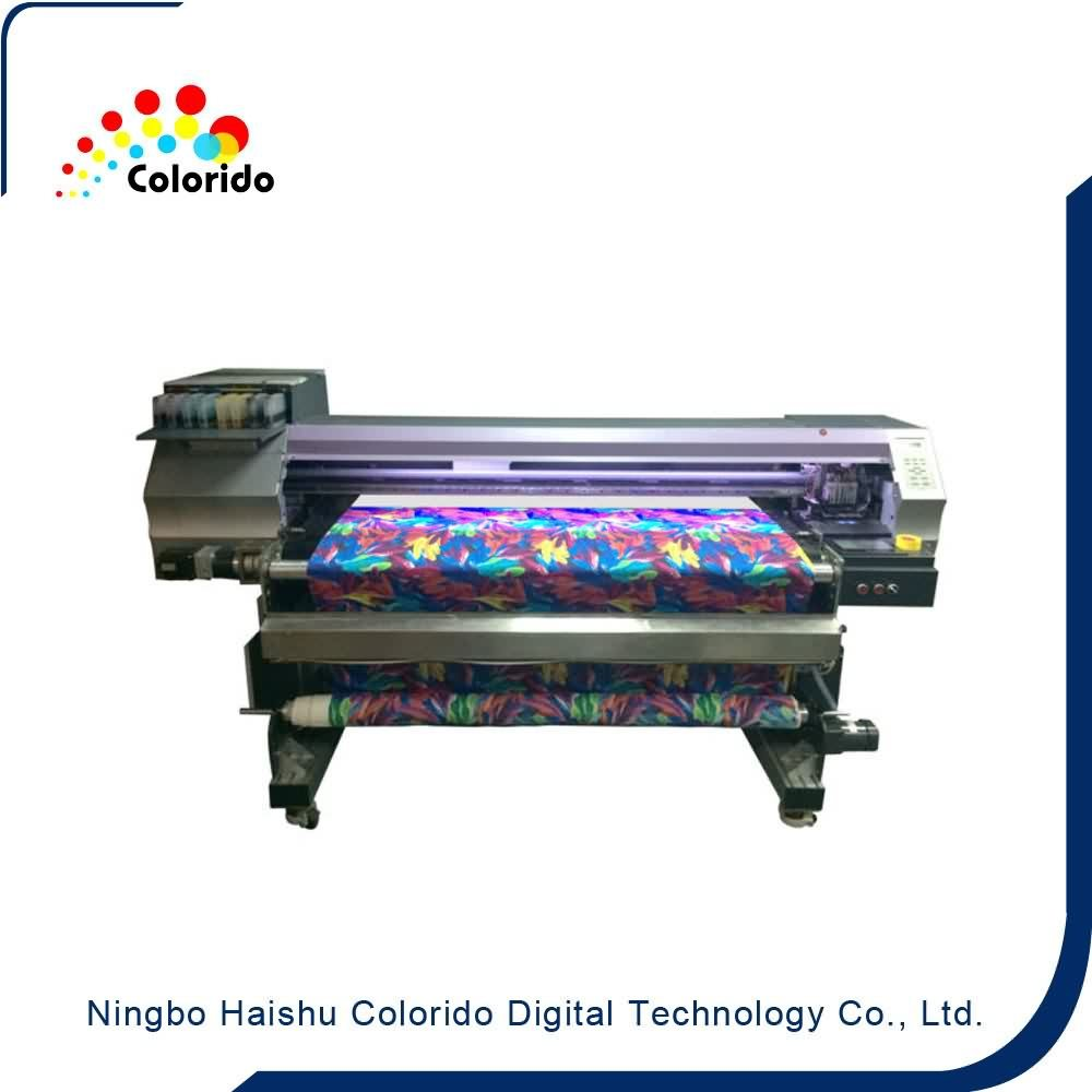Direct printing on silk fabric Belt type textile inkjet printer