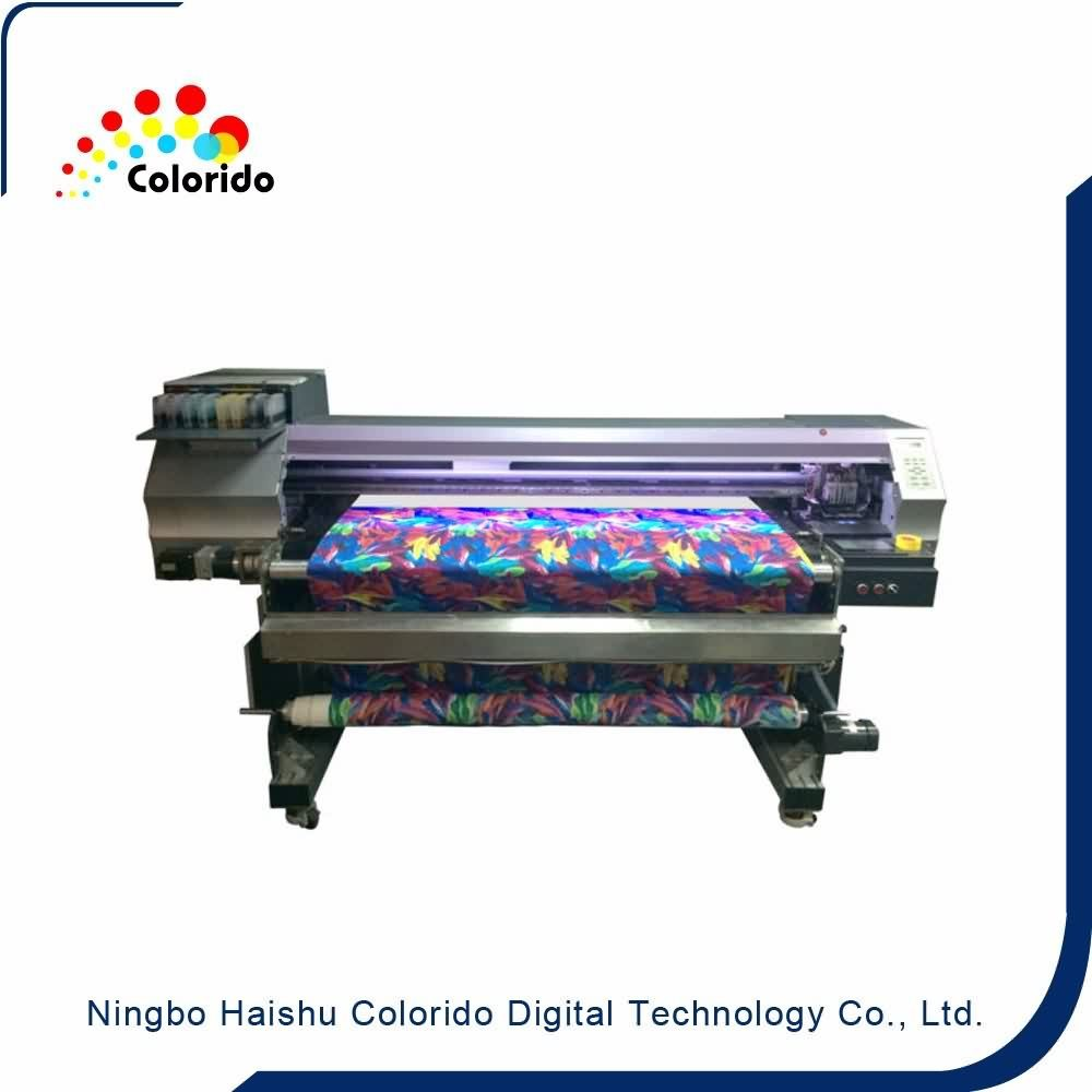 Direct printing on silk fabric Belt type textile inkjet printer