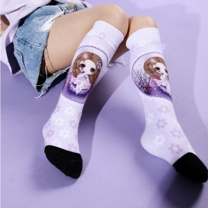 Wholesale Custom Long Sport Winter Soft Socks,Women Winter Socks.Knee Socks