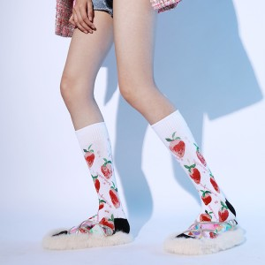 Korean Style Knee High Socks Women Winter, Women Socks Cute