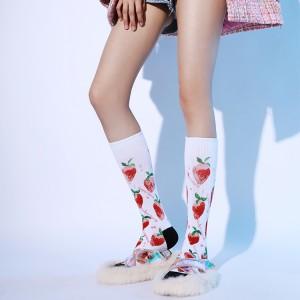 Korean Style Knee High Socks Women Winter, Women Socks Cute