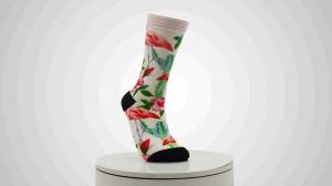 Fashion OEM Custom Socks Men Color Printed Socks