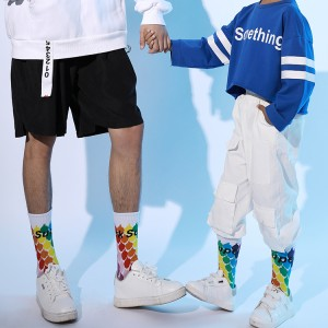 Męskie skarpetki z nadrukiem Sportowe, bawełniane skarpetki dla mężczyzn