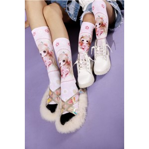 Bultuhang Kasayahan Cartoon Warm Cotton Crew Women's Trouser Socks
