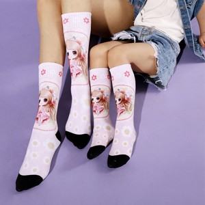 Wholesale Fun Cartoon Warm Cotton Crew Women's Trouser Socks