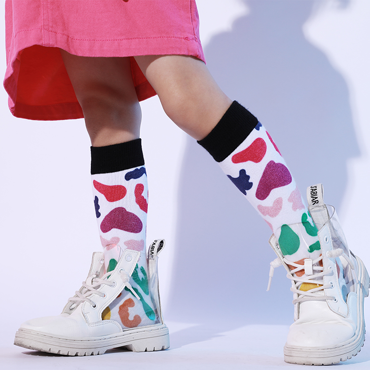 Custom-Made 3D Cartoon Cute Young Girl Tube Socks, Socks Girl Featured Image