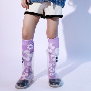 3D Young Girls Tube Sock Knee High, medyas Kids Girls